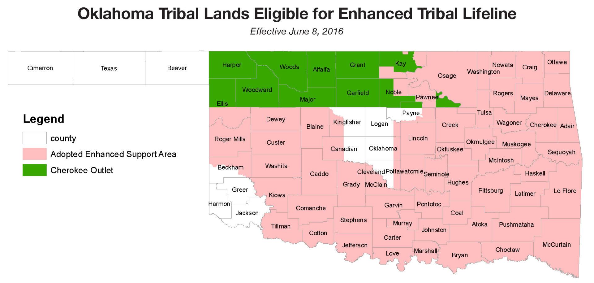 OKLAHOMA TRIBAL LAND REALLOCATION FOR Lifeline